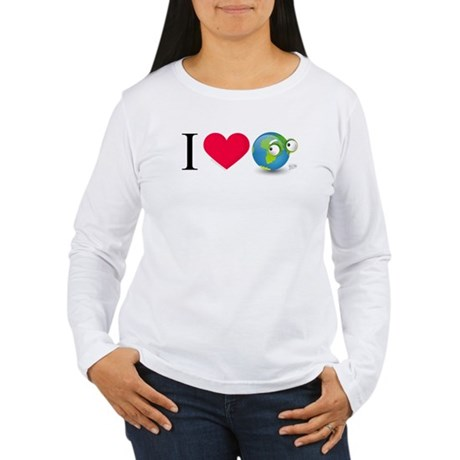 I Love Earth t-shirt Women's Long Sleeve T-Shirt