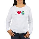 I Love Earth t-shirt Women's Long Sleeve T-Shirt