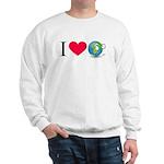 I Love Earth t-shirt Sweatshirt