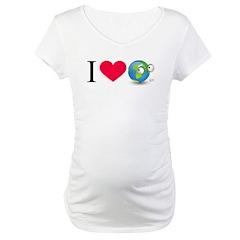 I Love Earth t-shirt Maternity T-Shirt