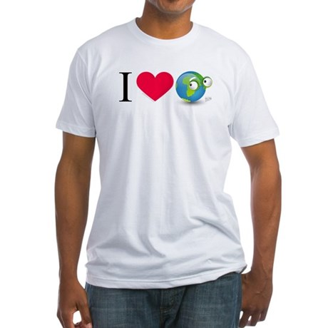 I Love Earth t-shirt Fitted T-Shirt