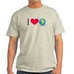 I Love Earth t-shirt Light T-Shirt