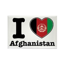 I love Afghanistan Rectangle Magnet (100 pack)