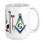 Masonic Brothers Scene Large Mug