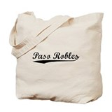 Vintage Paso Robles (Black) Tote Bag