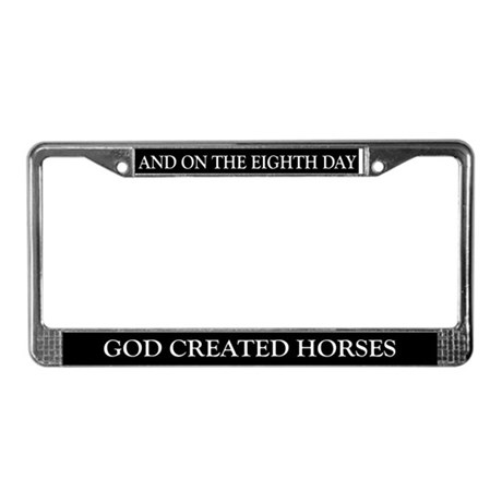 8TH DAY Horses License Plate Frame