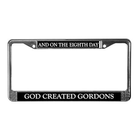 8TH DAY Gordons License Plate Frame