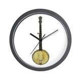 Classic Old Time Banjo on Wall Clock