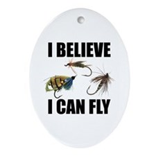 I Believe I Can Fly Oval Ornament
