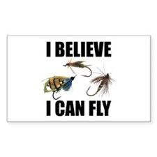I Believe I Can Fly Rectangle Sticker