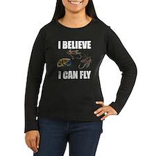 I Believe I Can Fly Women's Long Sleeve Dark T-Shi