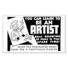 Be An Artist Rectangle Decal