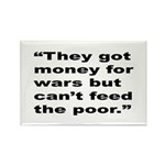 Rap Culture Anti-War Quote Rectangle Magnet (10 pa