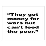 Rap Culture Anti-War Quote Small Poster