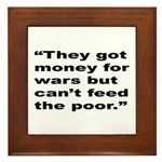 Rap Culture Anti-War Quote Framed Tile