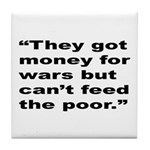 Rap Culture Anti-War Quote Tile Coaster