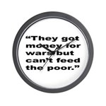 Rap Culture Anti-War Quote Wall Clock