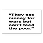 Rap Culture Anti-War Quote Rectangle Sticker
