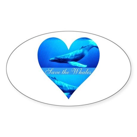 Save the Whales Oval Sticker