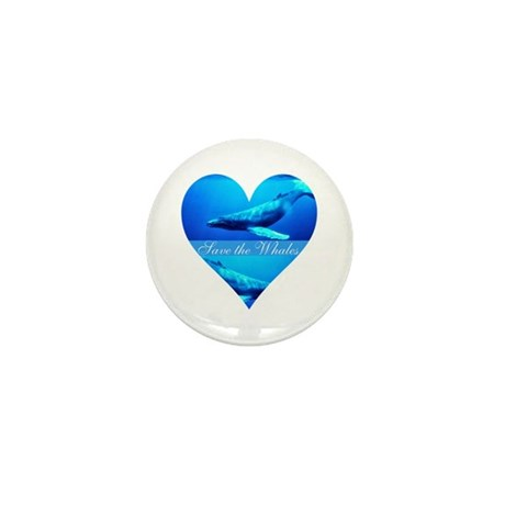 Save the Whales Mini Button (10 pack)