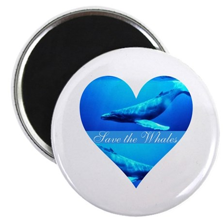"Save the Whales 2.25"" Magnet (100 pack)"
