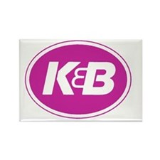 K&B Logo Rectangle Magnet