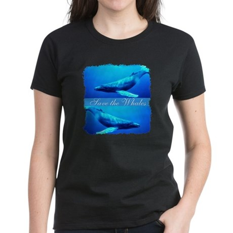 Save the Whales Women's Dark T-Shirt