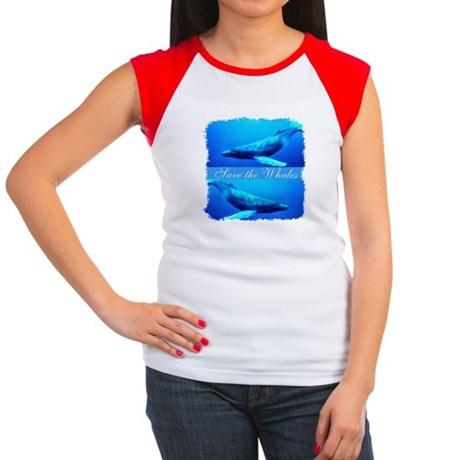 Save the Whales Women's Cap Sleeve T-Shirt