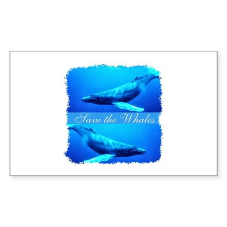 Save the Whales Rectangle Sticker