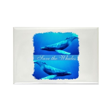 Save the Whales Rectangle Magnet (100 pack)