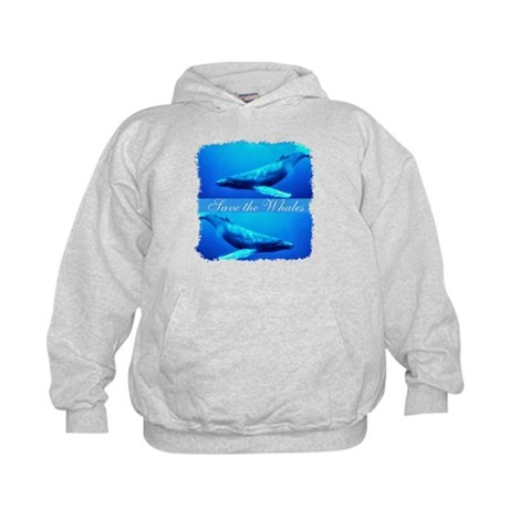 Save the Whales Kids Hoodie