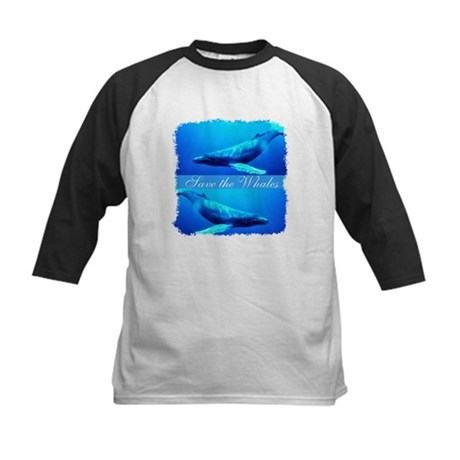 Save the Whales Kids Baseball Jersey