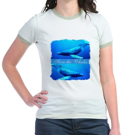 Save the Whales Jr. Ringer T-Shirt