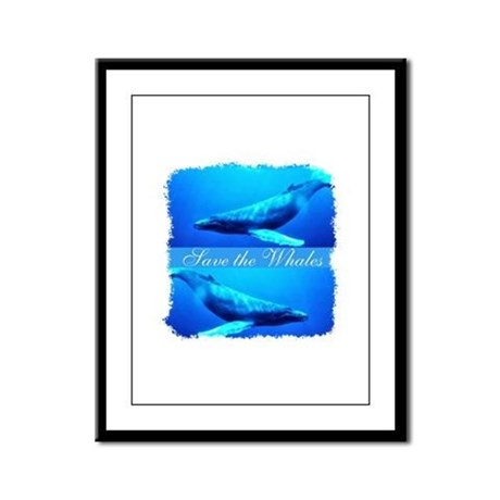Save the Whales Framed Panel Print