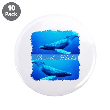 Save the Whales 3.5&quot; Button (10 pack)