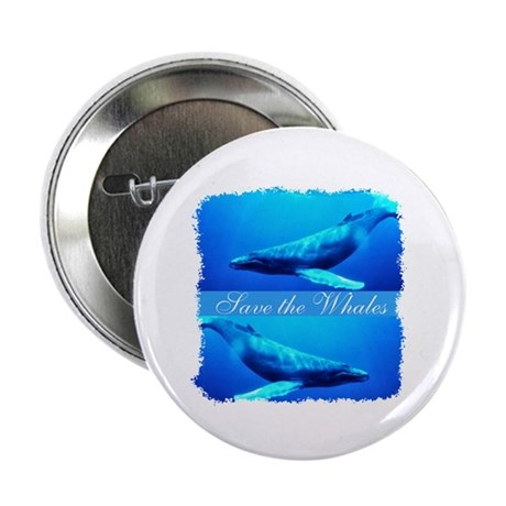 Save the Whales 2.25&quot; Button (10 pack)