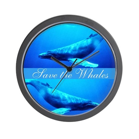 Save the Whales Wall Clock