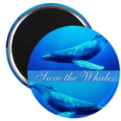 Save the Whales 2.25&quot; Magnet (100 pack)