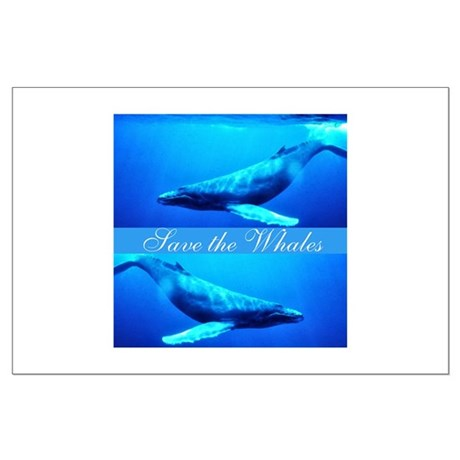 Save the Whales Large Poster