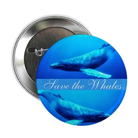 Save the Whales 2.25&quot; Button (100 pack)