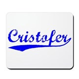 Vintage Cristofer (Blue) Mousepad