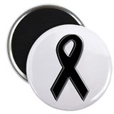 "Black Awareness Ribbon 2.25"" Magnet (10 pack)"