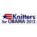 Knitters for Obama 2012 bumper sticker