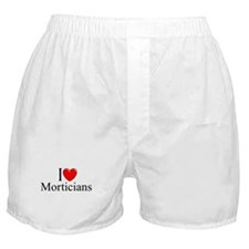 """I Love Morticians"" Boxer Shorts"