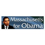 Massachusetts for Obama bumper sticker