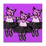 Pigs En Pointe Tile Coaster