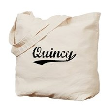 Vintage Quincy (Black) Tote Bag