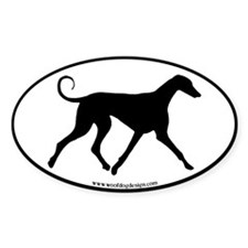 Azawakh Dog (black border) Oval Decal