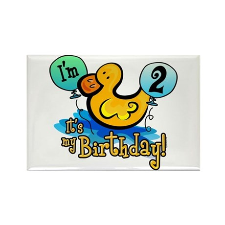 Ducky Birthday 2nd Rectangle Magnet