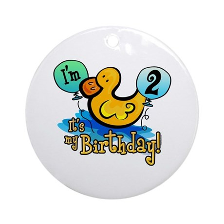 Ducky Birthday 2nd Ornament (Round)